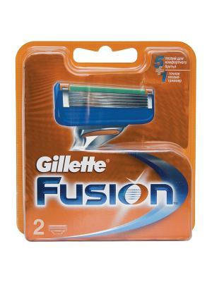 Сменные кассеты для бритья FUSION, 2 шт. GILLETTE. Цвет: рыжий