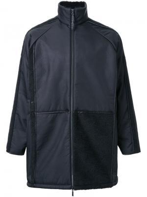 Stripe detailing mid coat Cottweiler. Цвет: чёрный
