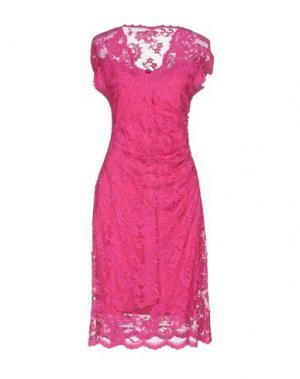 Платье до колена OLVI'S. Цвет: фуксия