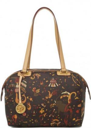 Коричневая сумка с одним отделом Piero Guidi. Цвет: коричневый