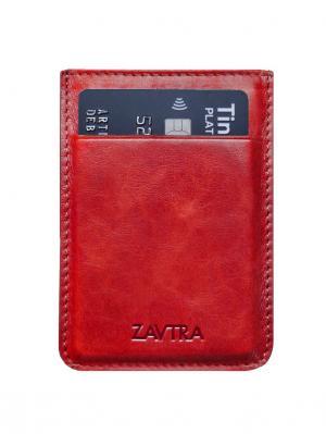 Минималистичный кошелек ZAVTRA. Цвет: красный
