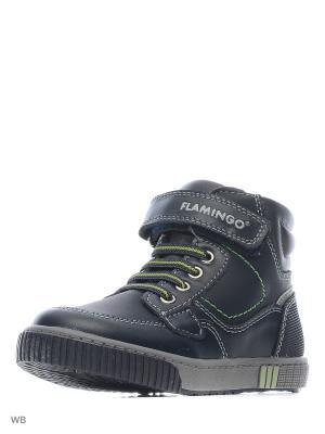 Ботинки Flamingo. Цвет: синий, зеленый