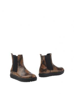 Полусапоги и высокие ботинки SI by SINELA. Цвет: верблюжий