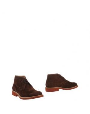 Полусапоги и высокие ботинки SIMONE MARIOTTI. Цвет: темно-коричневый
