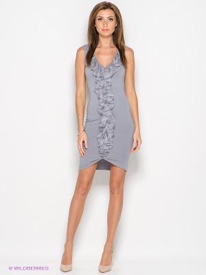 Платье SUGARLIFE. Цвет: серый