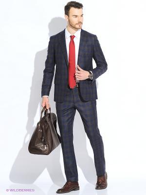 Пиджак Maurizio Baldassari. Цвет: темно-синий, серо-коричневый