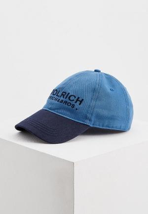 Бейсболка Woolrich. Цвет: синий