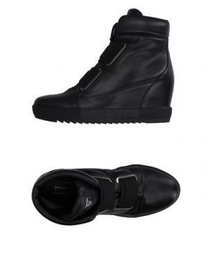 Высокие кеды и кроссовки LORIBLU. Цвет: черный