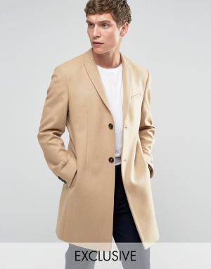 Noak Строгое приталенное пальто. Цвет: рыжий