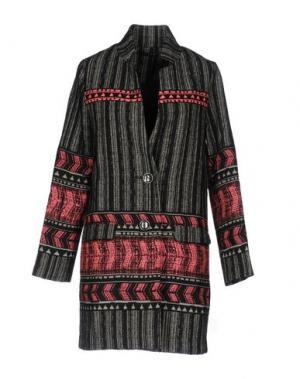 Легкое пальто CUSTO BARCELONA. Цвет: черный