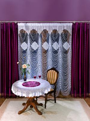 Комплект штор Wisan. Цвет: фиолетовый, прозрачный