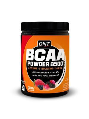 Аминокислоты QNT BCAA Powder 8500  (лесные ягоды), 350г. Цвет: черный