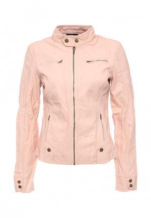 Куртка кожаная Tantra. Цвет: розовый