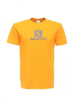 Футболка Salomon. Цвет: оранжевый