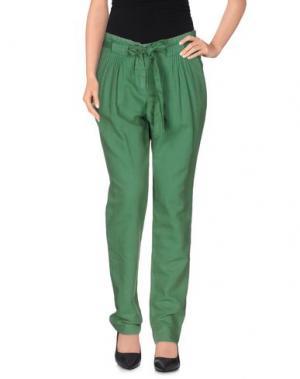 Повседневные брюки GOLD CASE SOGNO. Цвет: зеленый