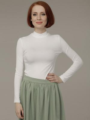 Водолазка Анна Чапман. Цвет: белый, серый