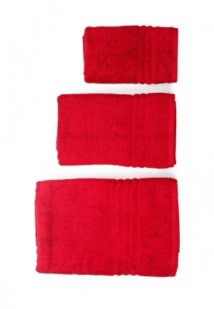 Комплект полотенец 3 шт. Arloni. Цвет: бордовый