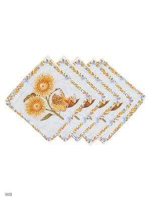 Набор платков носовых детских Римейн. Цвет: голубой, коричневый