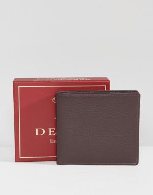 Dents Коричневый кожаный бумажник. Цвет: коричневый