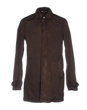Легкое пальто HEVÒ. Цвет: темно-коричневый