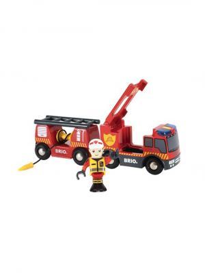 Пожарная машина,свет,звук,выдвижн.лестница,закруч.шланг BRIO. Цвет: прозрачный