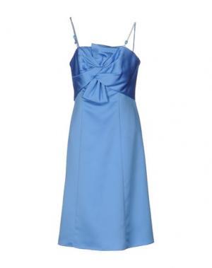 Короткое платье CARLO PIGNATELLI. Цвет: лазурный