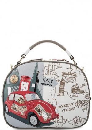 Кожаная сумка с короткой ручкой Curanni. Цвет: мультиколор