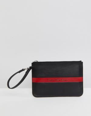 Calvin Klein Кожаная сумочка с логотипом Jeans. Цвет: черный