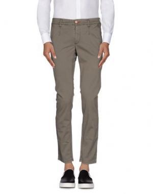 Повседневные брюки JULIAN KEEN. Цвет: серый