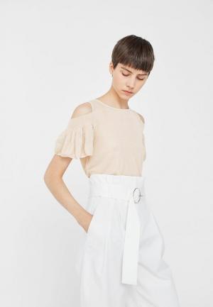 Блуза Mango. Цвет: бежевый