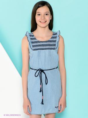 Платье PEPE JEANS LONDON. Цвет: голубой