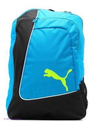 Рюкзак evoPOWER Football Backpack Puma. Цвет: черный, голубой