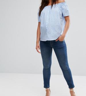 ASOS Maternity Зауженные джинсы для беременных с эластичным поясом Rid. Цвет: синий