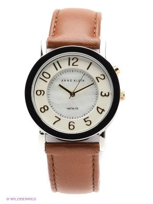 Часы ANNE KLEIN. Цвет: серебристый, коричневый