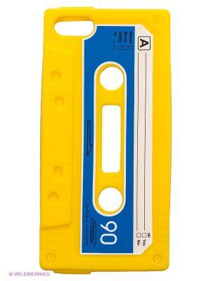 Чехол для iPhone 5/5s Кассета (желтая) Kawaii Factory. Цвет: желтый