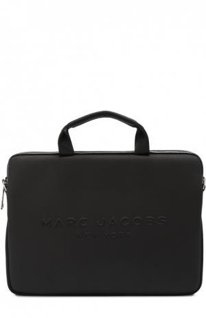 Сумка для ноутбука с логотипом бренда Marc Jacobs. Цвет: черный