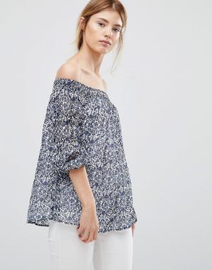 Greylin Блузка с открытыми плечами Jessalyn. Цвет: синий