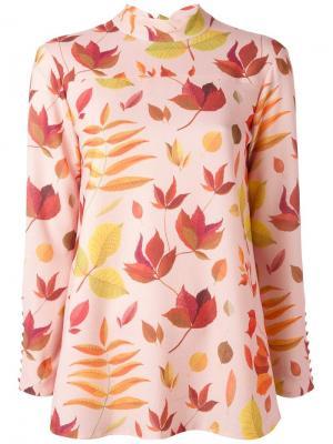 Leaf print blouse Arthur Arbesser. Цвет: розовый и фиолетовый