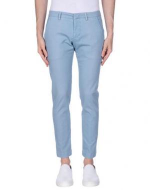 Повседневные брюки MASSIMO BRUNELLI. Цвет: небесно-голубой