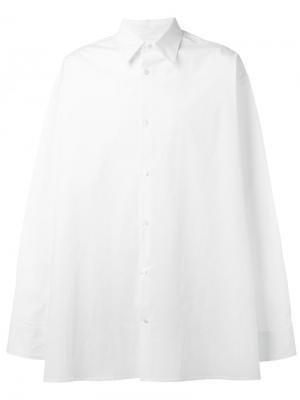 Рубашка свободного кроя Raf Simons. Цвет: белый