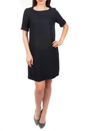 Свободное платье с короткими рукавами Mees. Цвет: синий