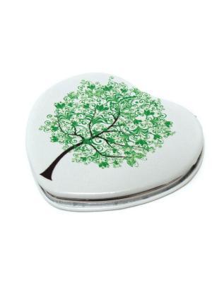 Зеркальце Eleon. Цвет: белый, зеленый