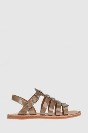 Кожаные сандалии Pom D'Api. Цвет: золотой