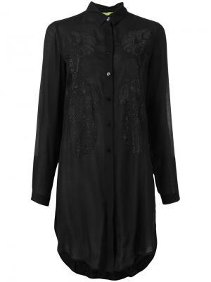 Декорированная рубашка Versace Jeans. Цвет: чёрный