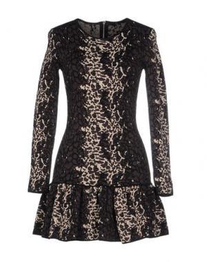 Короткое платье SLY010. Цвет: темно-коричневый