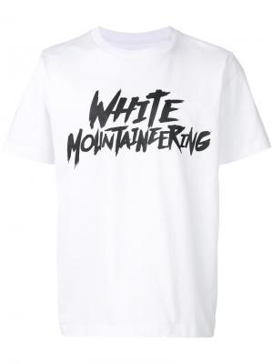 Футболка с принтом-логотипом White Mountaineering. Цвет: белый