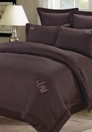 Комплект постельного белья Евро Sofi De Marko. Цвет: коричневый