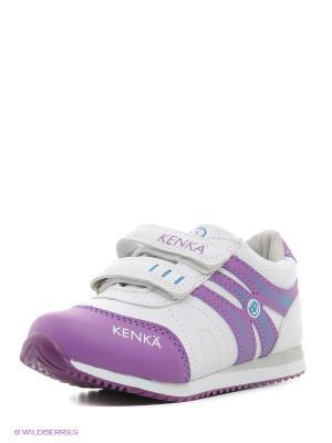 Ботинки KENKA. Цвет: белый, фиолетовый