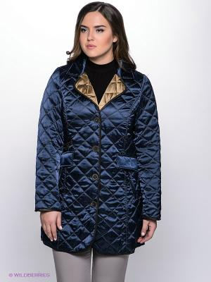 Пальто WEGA. Цвет: темно-синий