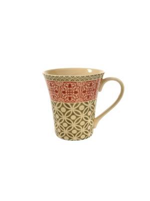 Кружка Фергана Elff Ceramics. Цвет: бежевый, красный